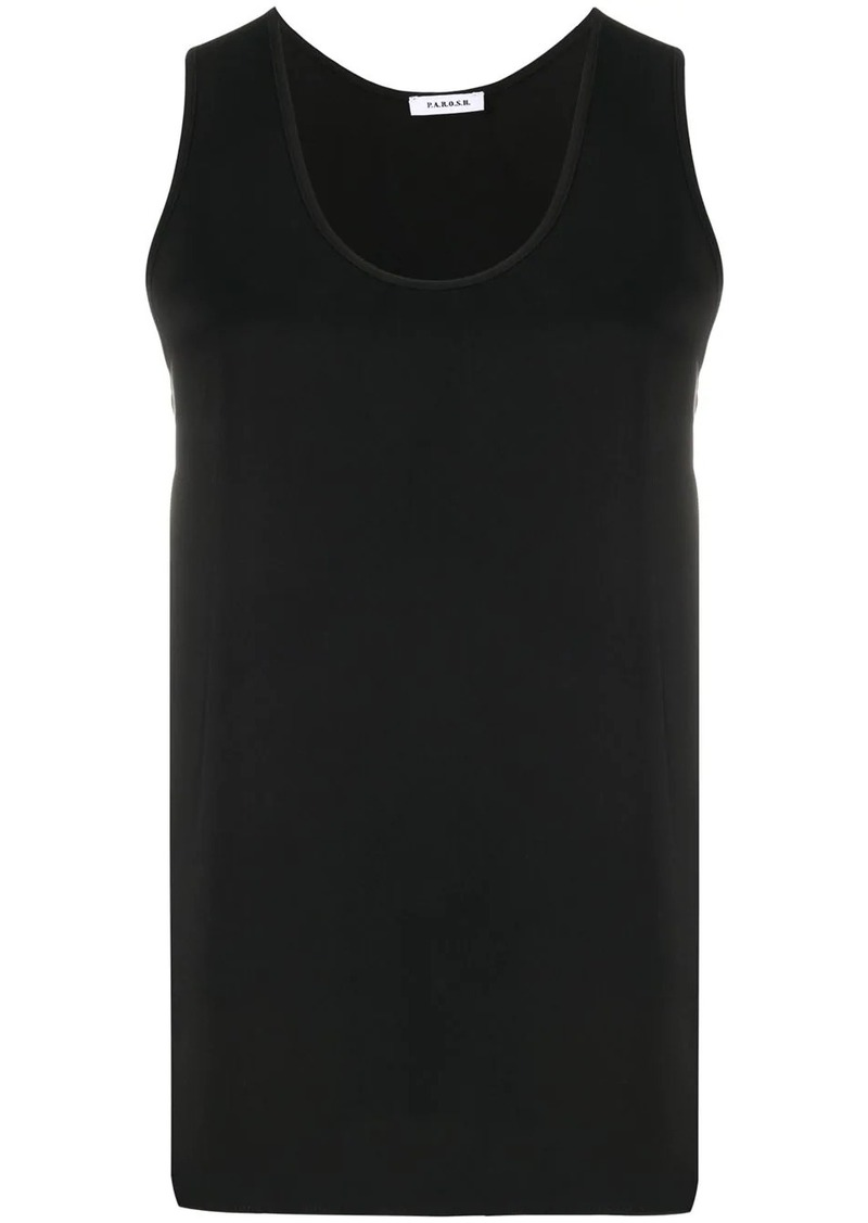 P.A.R.O.S.H. scoop neck tank top
