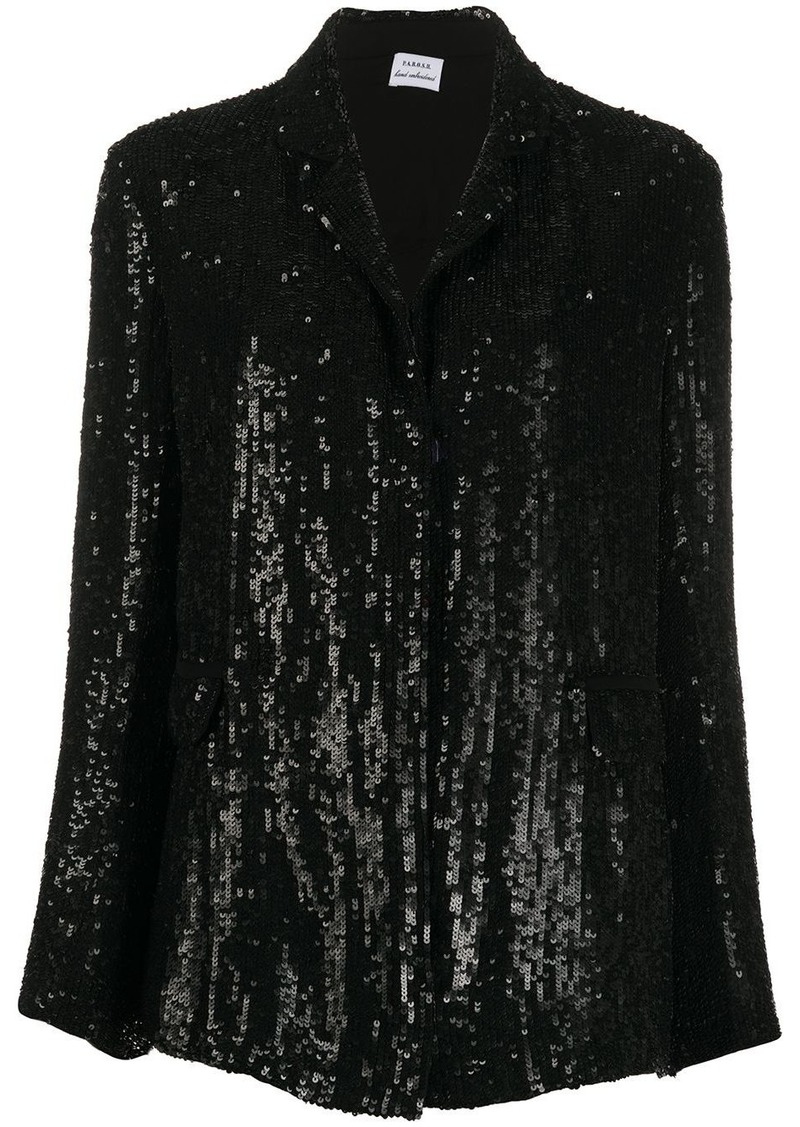 P.A.R.O.S.H. sequinned open-front blazer