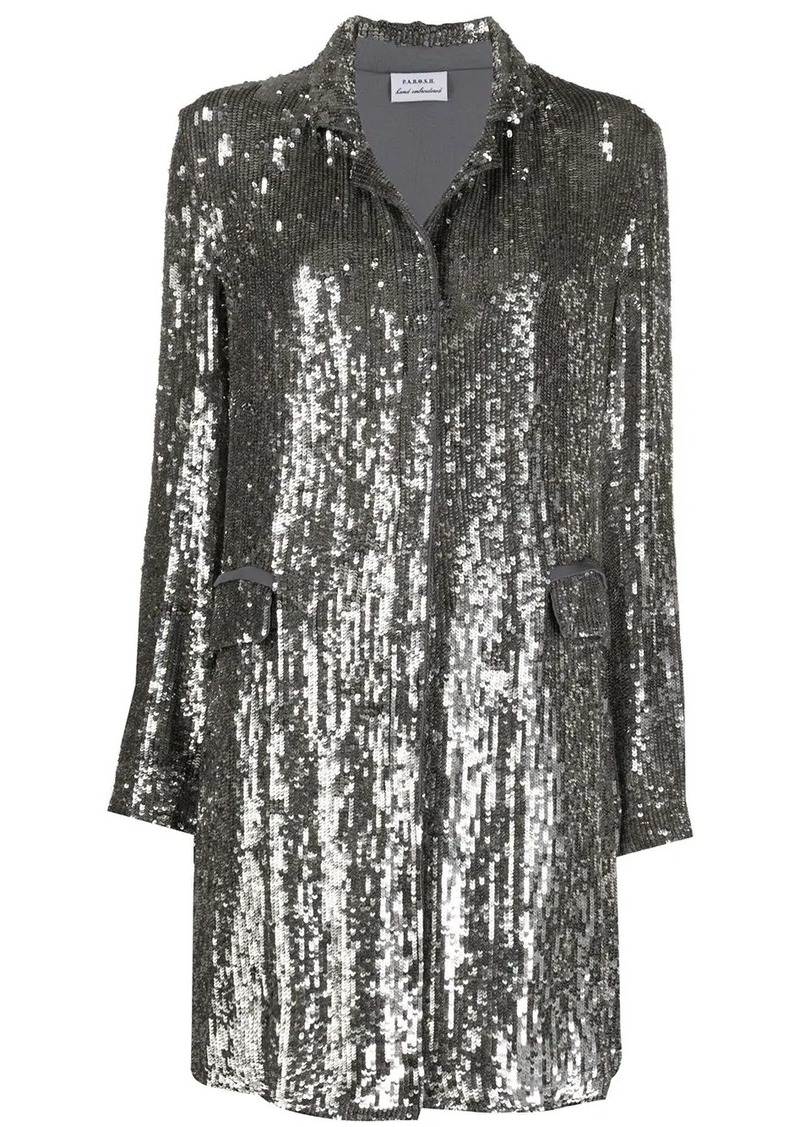 P.A.R.O.S.H. sequinned open-front coat