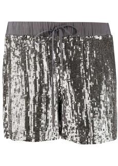 P.A.R.O.S.H. sequinned straight-leg shorts