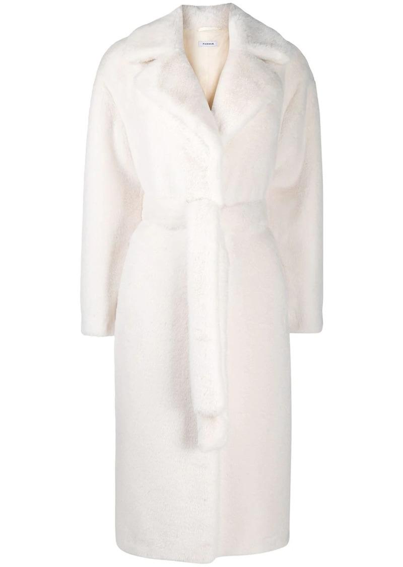 P.A.R.O.S.H. shearling long-length coat