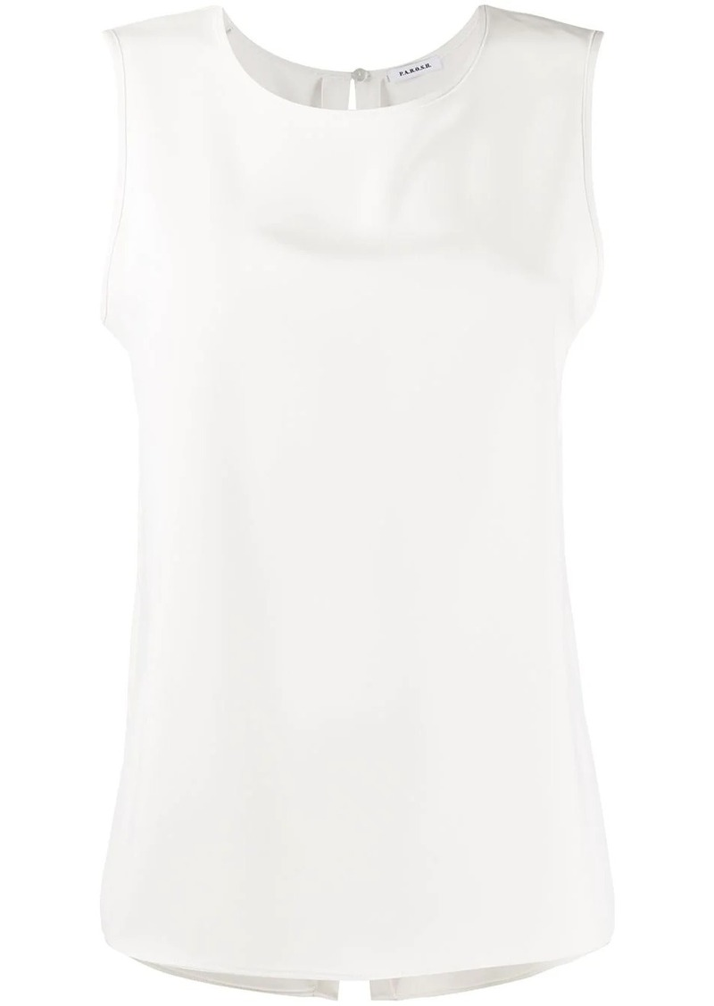 P.A.R.O.S.H. sleeveless relaxed shape top