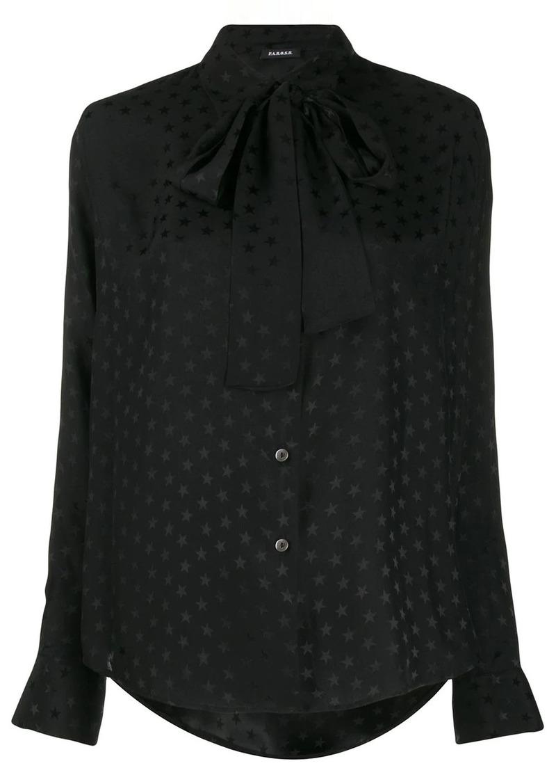 P.A.R.O.S.H. star-print pussy bow shirt