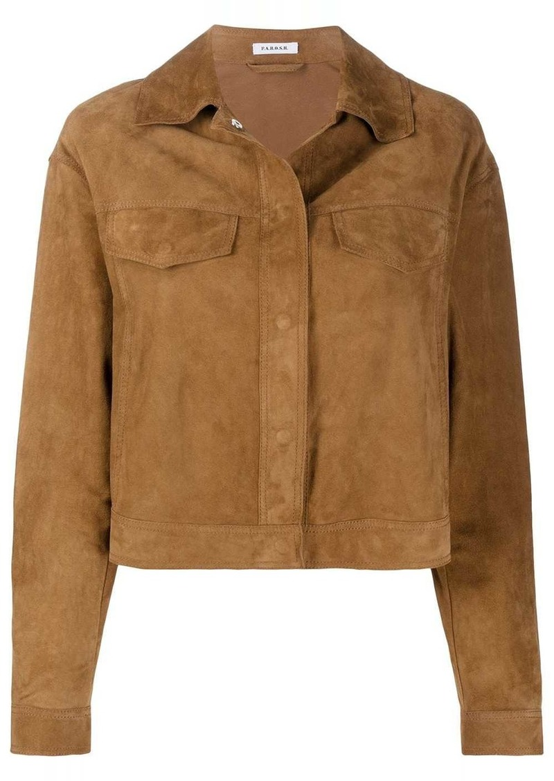 P.A.R.O.S.H. textured fringed effect jacket
