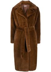 P.A.R.O.S.H. tie waist midi coat