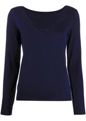 P.A.R.O.S.H. V-neck ribbed knit sweater