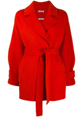 P.A.R.O.S.H. waist-tied fitted coat