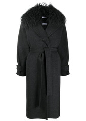 P.A.R.O.S.H. waist-tied tailored coat