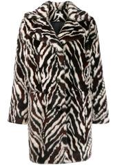 P.A.R.O.S.H. zebra print faux fur coat