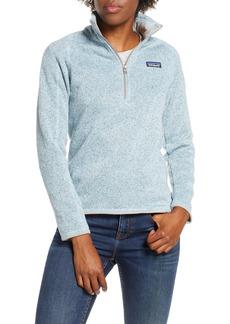 Women's Patagonia Better Sweater Quarter Zip Performance Jacket