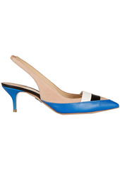 Paul Andrew Woman Atlas Suede Snake-effect And Smooth-leather Pumps Blue