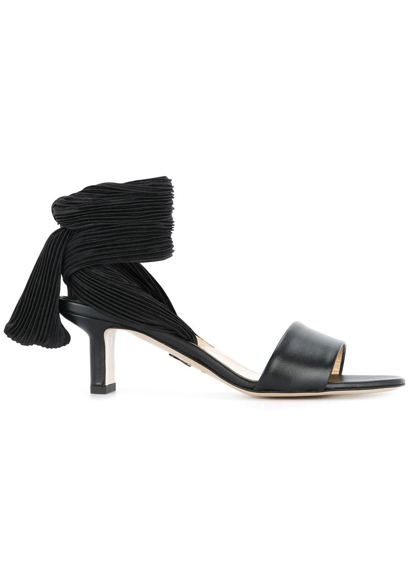 Paul Andrew pleated lace up strap sandals