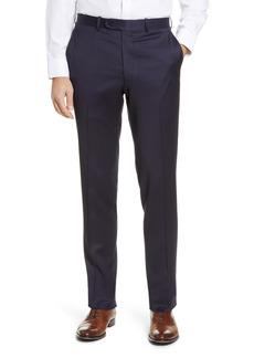 Men's Big & Tall Peter Millar Harker Flat Front Solid Stretch Wool Dress Pants