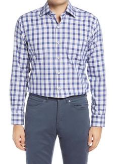 Peter Millar Crown Ease Plaid Button-Up Stretch Cotton Shirt