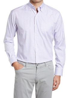 Peter Millar Crown Ease Royce Regular Fit Stretch Check Button-Down Shirt