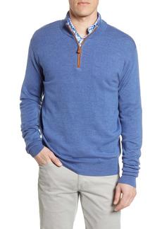 Peter Millar Crown Regular Fit Quarter Zip Pullover