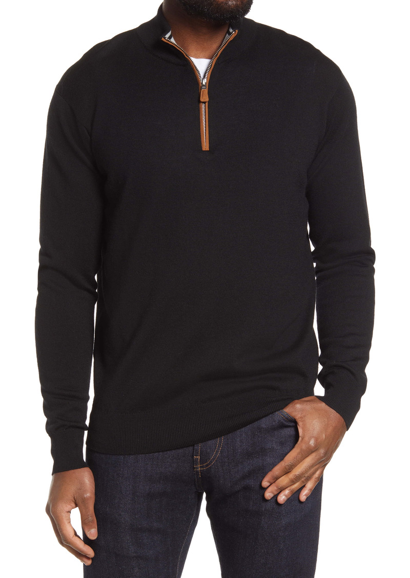 Peter Millar Crown Regular Fit Quarter Zip Pullover