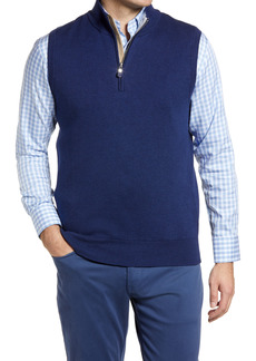Peter Millar Crown Soft Pima Cotton Blend Quarter Zip Vest