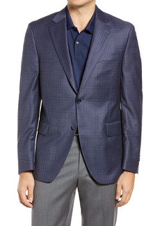 Peter Millar Flynn Classic Fit Deco Plaid Wool Sport Coat