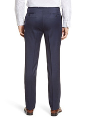 Peter Millar Harker Flat Front Solid Stretch Wool Dress Pants