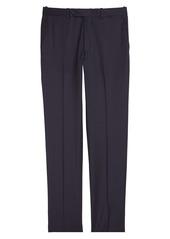 Peter Millar Harker Flat Front Solid Stretch Wool Dress Pants