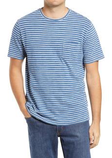 Peter Millar Seaside Indigo Stripe Pocket T-Shirt
