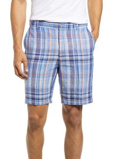Peter Millar Seaside Linen Madras Shorts