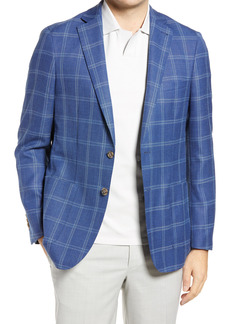 Peter Millar Spring Windowpane Wool Blend Sport Coat