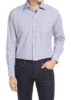 Peter Millar Stretch Poplin Check Button-Up Shirt