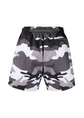 Philipp Plein asymmetric camouflage swimming trunks