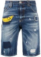 Philipp Plein banana patch shorts