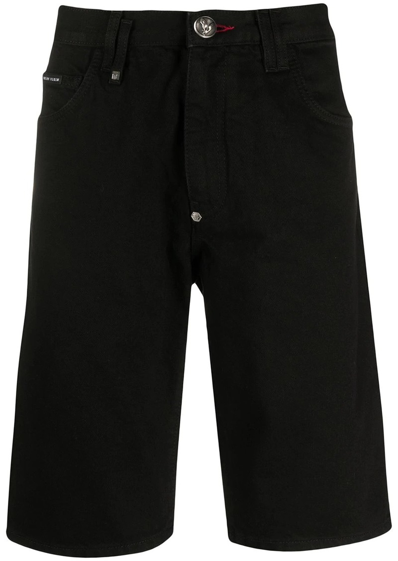 Philipp Plein Bermuda jean shorts