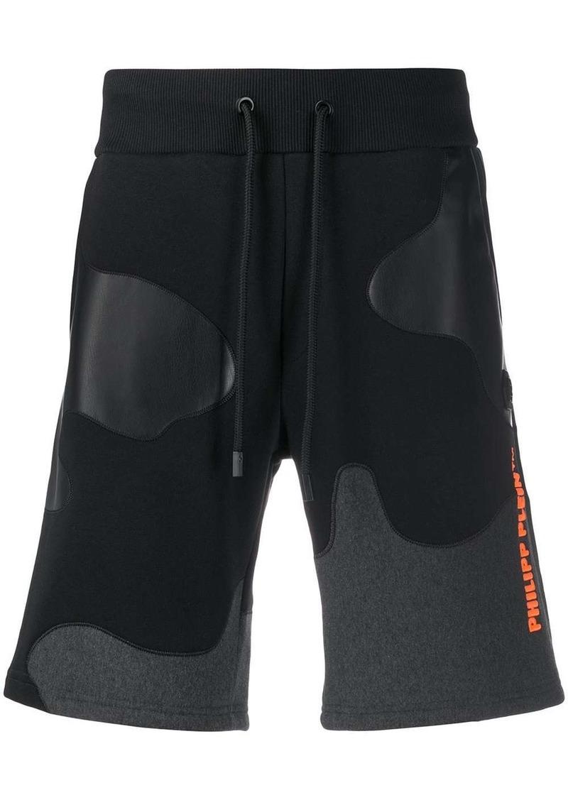 Philipp Plein camouflage track shorts