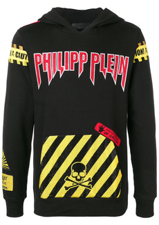 Philipp Plein caution warning hoodie
