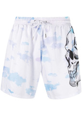 Philipp Plein cloud-print swimshorts