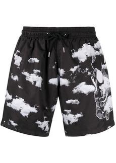 Philipp Plein cloud-print swimshorts