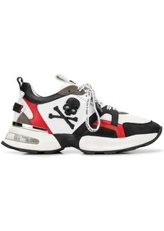 Philipp Plein colour-block skull sneakers