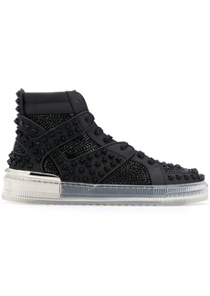 Philipp Plein crsytal-embellished high-top sneakers
