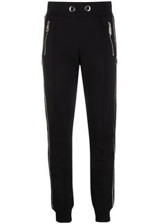 Philipp Plein crystal stripe track trousers