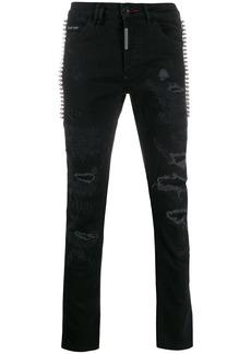 Philipp Plein distressed straight-leg jeans