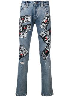 Philipp Plein dollar bill skinny jeans