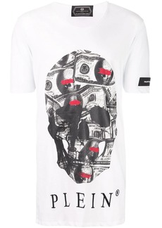 Philipp Plein Dollar Bill Skull T-shirt