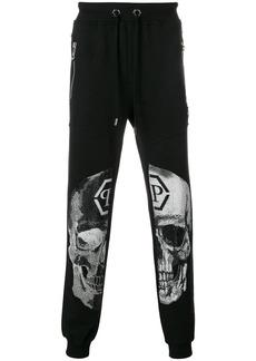 Philipp Plein embellished skull track pants
