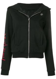Philipp Plein embellished skull zip front hoodie