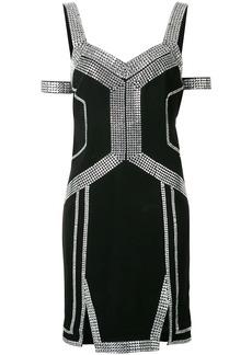 Philipp Plein embellished trim dress