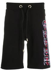Philipp Plein embroidered gothic logo track shorts