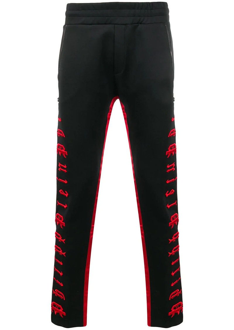 Philipp Plein embroidered logo track trousers