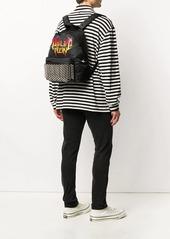 Philipp Plein flame logo-print backpack