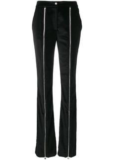 Philipp Plein flared zip front trousers