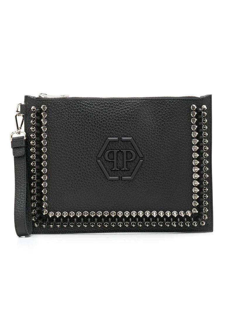 Philipp Plein flat studded clutch bag